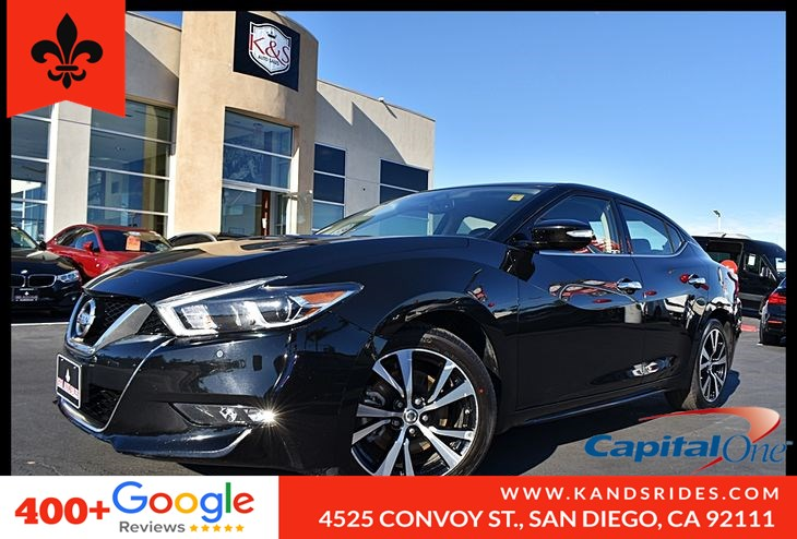2018 Nissan Maxima SV BackUp Cam Bluetooth Climate Cntl Keyles Navigation Pkg BackUp Cam Leather Seats 1 Owner
