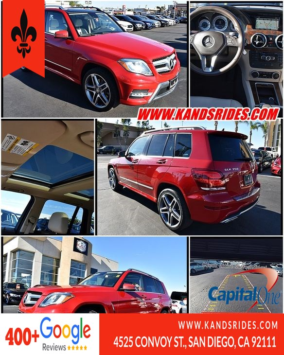 2015 Mercedes-Benz GLK 350 Panoramic Roof Navi Sys Bluetooth BSM PO1 BackUp Cam Lane Dep Wrn Sat Radio 1 Owner