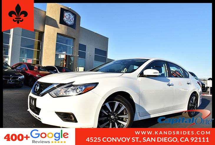 2018 Nissan Altima 2.5 SL BackUp Cam BSM Bluetooth Fog Lamps Cross Traffic Alert Heated Seats Prem Snd Sat Rad