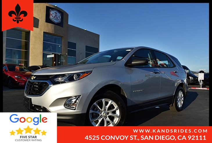 2018 Chevrolet Equinox LS 1LS BackUp Cam Bluetooth Keyless Start Smart Device Device Int Tire Pressure Monitor