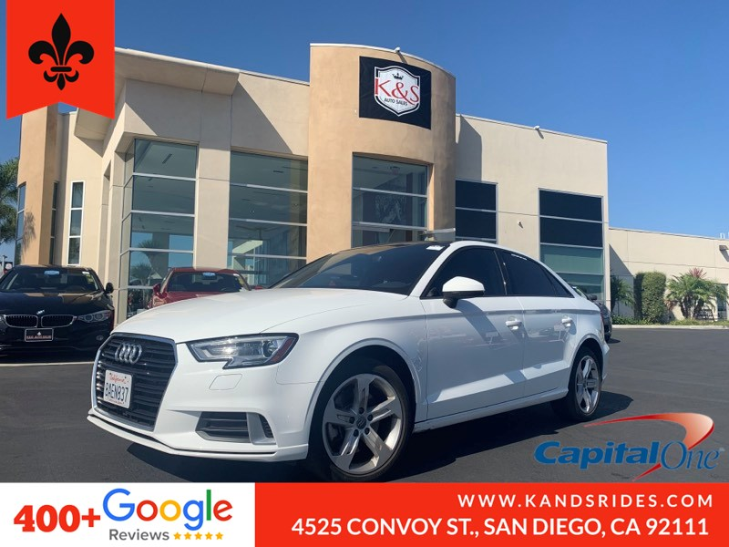 2017 Audi A3 2.0 TFSI Premium FWD Moonroof Leather BackUp Cam HID Lights Bluetooth Pwr Driver Seat TPM