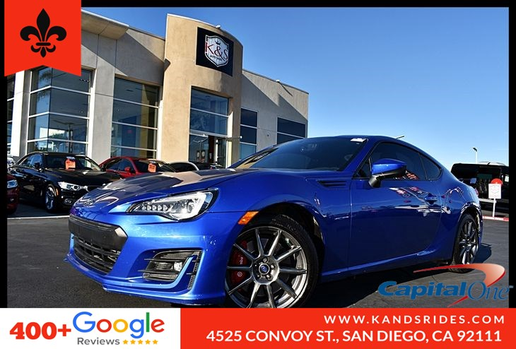 2017 Subaru BRZ Limited Pkg*Manual Transmission*6 Speed*Rear Cam*Keyless Start*Fog Lamps*Red Calipers*Spoiler