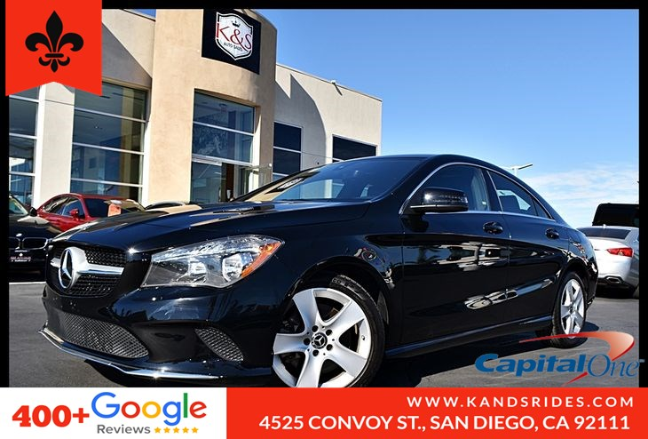 2018 Mercedes-Benz CLA 250 Backup Cam Bluettoth Keyless GO Integrated Turn Signals Pwr Seats TPM 2.0L Turbo