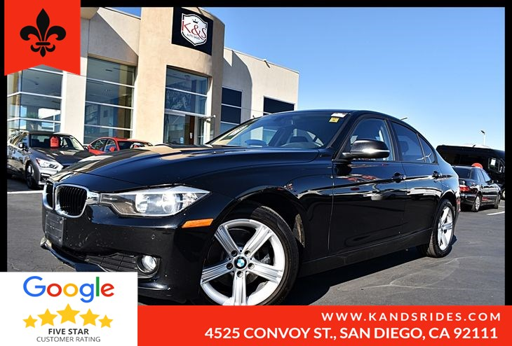 2014 BMW 328d RWD MoonRoof BackUp Cam Bluetooth TPM Navigation Sys Moonroof Leather Driver Assist pkg