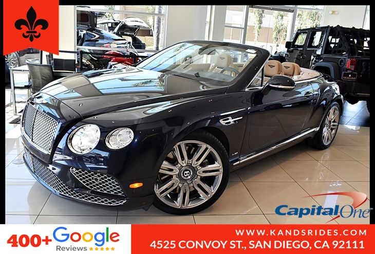 2017 Bentley Continental GTC*Navigation*Rear Cam*Soft Top* Cooled Seats*Twin-Turbocharged 6.0 Liter W12