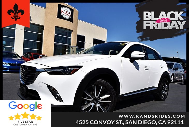 2016 Mazda CX-3 AWD Grand Touring MoonRoof Leather Navigation BackUp Cam Bluettoth Heads Up Display Keyless Go