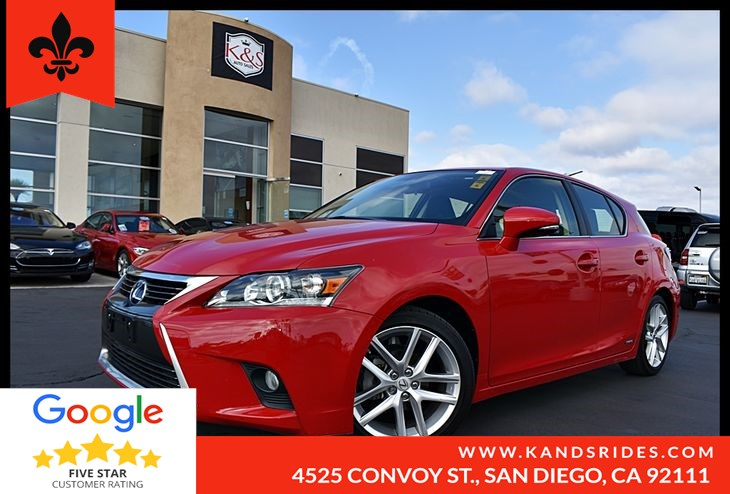 2015 Lexus CT 200h 5Dr Hybrid MoonRoof Premium Synthetic Keyless Start Bluetooth