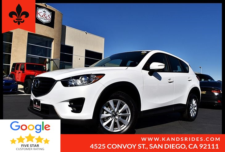 2016 Mazda CX-5 SPORT  Backup Cam Bluetooth Fuel Economy : 26 mpg City / 33 mpg Highway