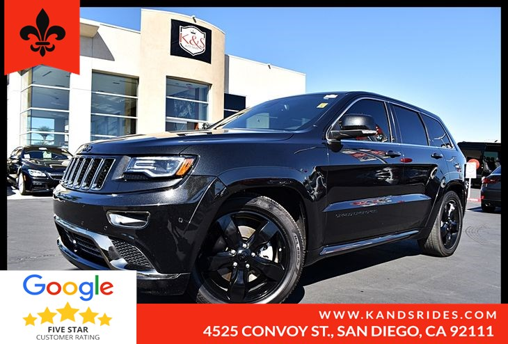 2016 Jeep Grand Cherokee OVERLAND  4WD Panoroof Leather Seats Premium Pkg Eco/Sport Pkg