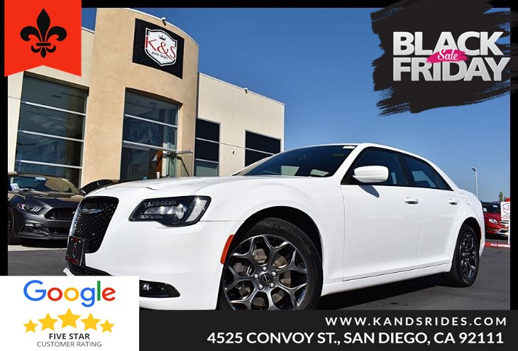 2018 Chrysler 300 S AWD Camera, Prem Sound, Heated Seats, Sat Radio