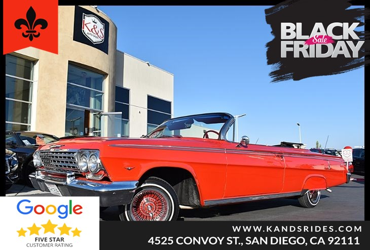 1962 Chevy Impala Convertible 283 automatic p.steering p.brakes p.top sound sys 13x7 zeniths