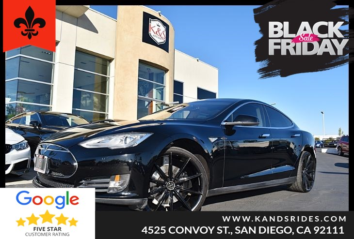 2014 Tesla Model S Navigation Sys Keyless Start Bluetooth 85 kWh Smart Device Integration Panoroof