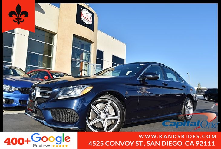 2016 Mercedes-Benz C 300 Rear View Cam Memory Pkg Compartment Pkg Key less Start Collision Warning Assist Navi Ready