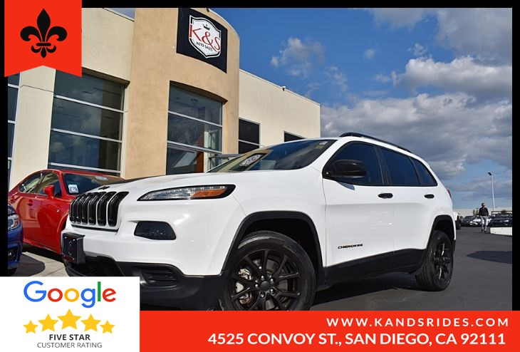 2016 Jeep Cherokee Sport BackUp Cam Aux In Put Uconnect 2WD Keyless Entry Roof Rack
