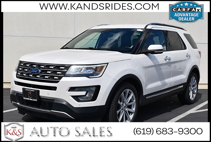 2017 Ford Explorer Limited*Voice Activated Navigation*SYNC*S Sony Audio Sys*Rear View Cam*Leather Trim Seats*