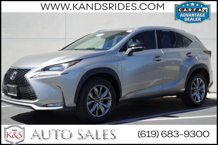2017 Lexus NX 200t F Sport | LED Headlamps, Heated Front Seats, Heated Wheel, Bluetooth, Back-up Cam