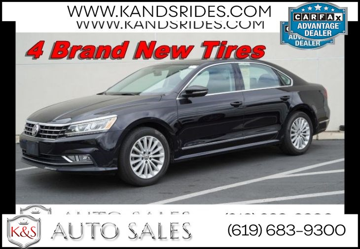 2017 Volkswagen Passat 1.8T SE | Lighting Pkg, Blind Spot Assist, Back-up Cam, VW Car-Net, Sunroof, Heated Seats