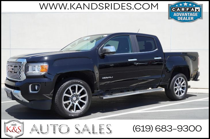 2017 GMC Canyon Denali RWD | *One Owner*, Heat/Vent Front Seats, Heated Wheel, Bluetooth, Wi-Fi, Back-up Cam