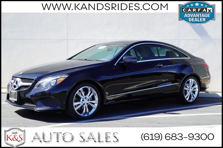 2017 Mercedes-Benz E 400 Coupe | *One Owner*, Pano Roof, Blind-spot Monitor, Heat/Vent Seats, Back-up Cam