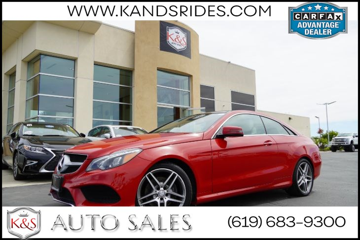 2016 Mercedes-Benz E 400 Coupe | *One Owner*, AMG Styling Pkg, Pano Roof, Blind-Spot Monitor, Heat/Vent Seats