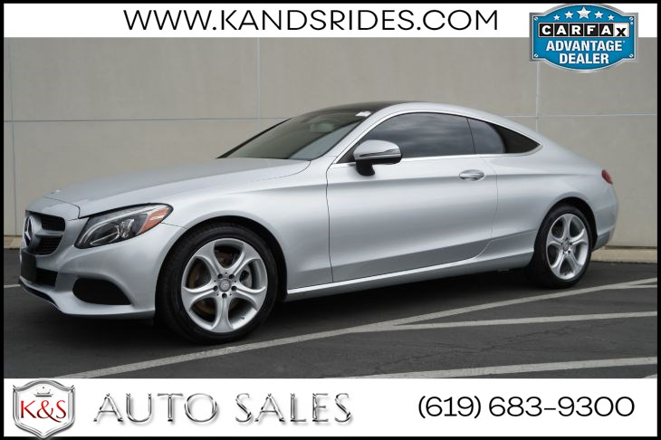 2017 Mercedes-Benz C 300 Coupe | Pano Roof, Heated Seats, Blind-spot Monitor, Bluetooth, Back-up Cam, Keyless Ignition