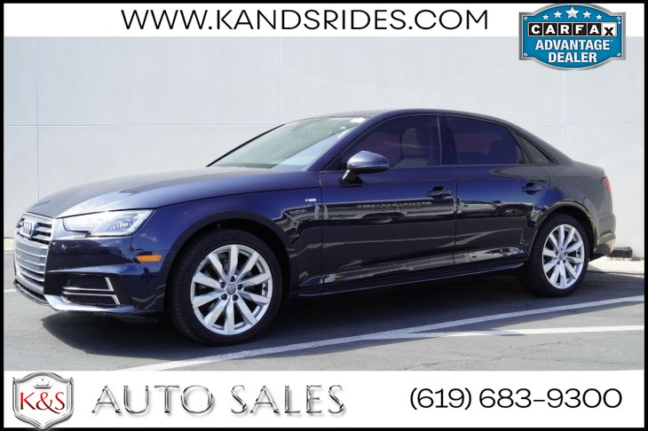 2018 Audi A4 ultra Premium | *One Owner*, Sunroof, Heated Seats, Bluetooth, Back-up Cam, Keyless Ignition