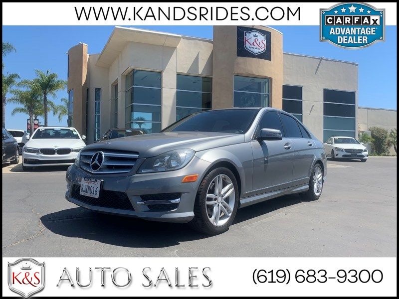 2013 Mercedes-Benz C 250 Sport Navigation Sys BackUp Cam Leather Seats Moonroof Bluetooth Trunk Lid Spoiler