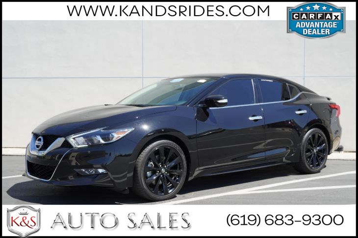 2017 Nissan Maxima 3.5 SR | *One Owner*, Midnight Edition Pkg, Heated/Ventilated Seats, Adaptive Cruise Ctrl
