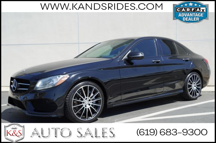 2016 Mercedes-Benz C 300 | *One Owner* AMG Styling Pkg, Pano Roof, Heated Seats, Blind-spot Monitor, Back-up Cam
