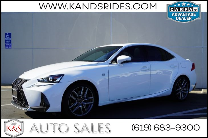 2017 Lexus IS 200t F Sport | *One Owner*, Sunroof, Heated/ Vented Seats, Adaptive Cruise Ctrl, Back-up Cam