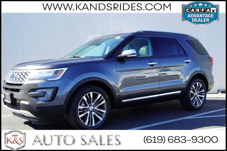2017 Ford Explorer Platinum | 4WD, Pano Roof, Heated/Vented Seats, Adaptive Cruise Ctrl, Blind-spot Monitor