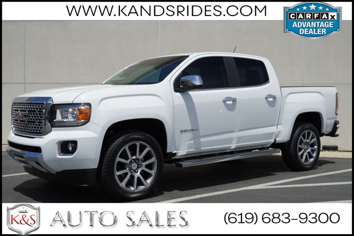 2018 GMC Canyon Denali | *One Owner*, 4X4, Heated/Vented Seats, Adaptive Cruise Ctrl, Bed Liner, Navigation