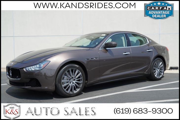2017 Maserati Ghibli | *One Owner*, Sunroof, Heated Seats, Blind-spot Monitor, Bluetooth, Back-up Cam
