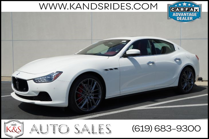 2017 Maserati Ghibli S | *One Owner*, Sunroof, Heated Seats, Adaptive Cruise Ctrl, Blind-spot Monitor