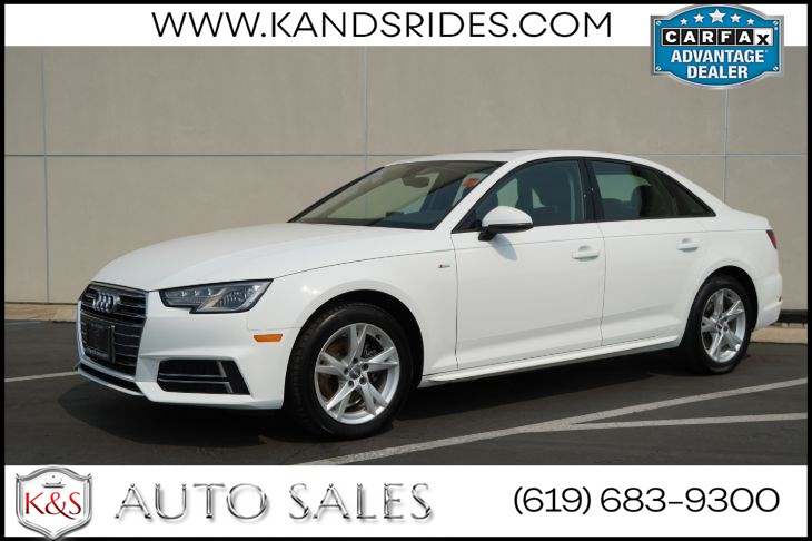 2018 Audi A4 ultra 2.0T Premium | *One Owner*, S Line Pkg, Sunroof, Heated Seats, Bluetooth, Back-up Cam