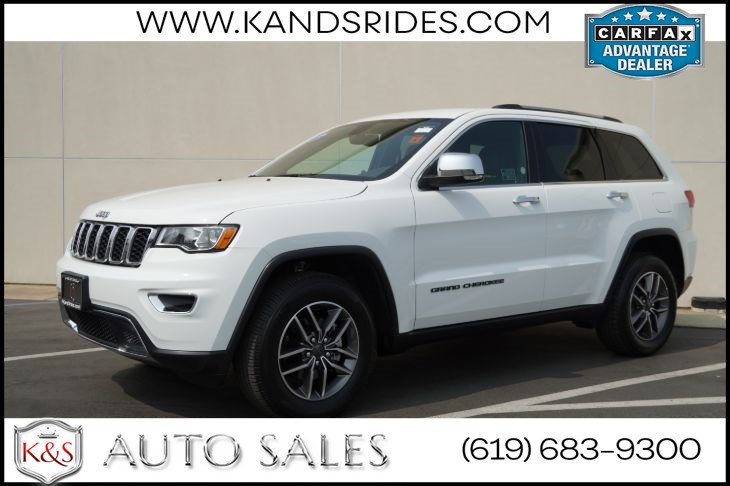 2019 Jeep Grand Cherokee Limited | *One Owner*, 4X4, Heated Seats, Blind-spot Monitor, Back-up Cam