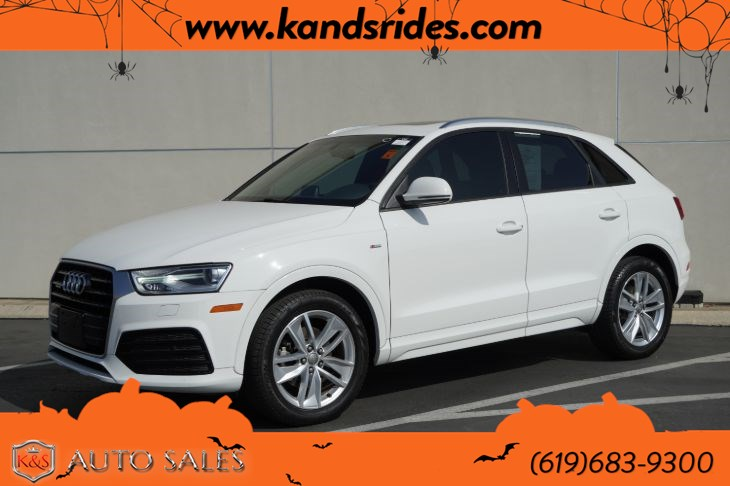 2018 Audi Q3 2.0T Premium quattro | *One Owner*, AWD, S Line Pkg, Pano Roof, Heated Seats, Back-up Cam