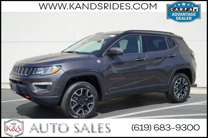 2019 Jeep Compass Trailhawk | *One Owner*, 4X4, Bluetooth, Back-up Cam, Android Auto, Apple CarPlay
