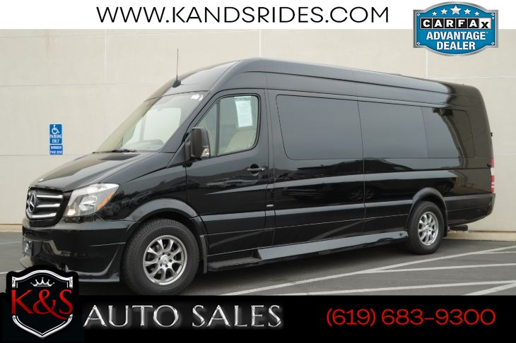 2015 Mercedes-Benz Sprinter 2500 Executive Conversion Van | Rear-seat Entertainment, Diamond-quilted Leather