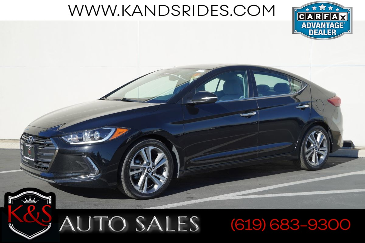 2017 Hyundai Elantra Limited | *One Owner*, Sunroof, Heated Seats, Adaptive Cruise Ctrl, Blind-spot Monitor