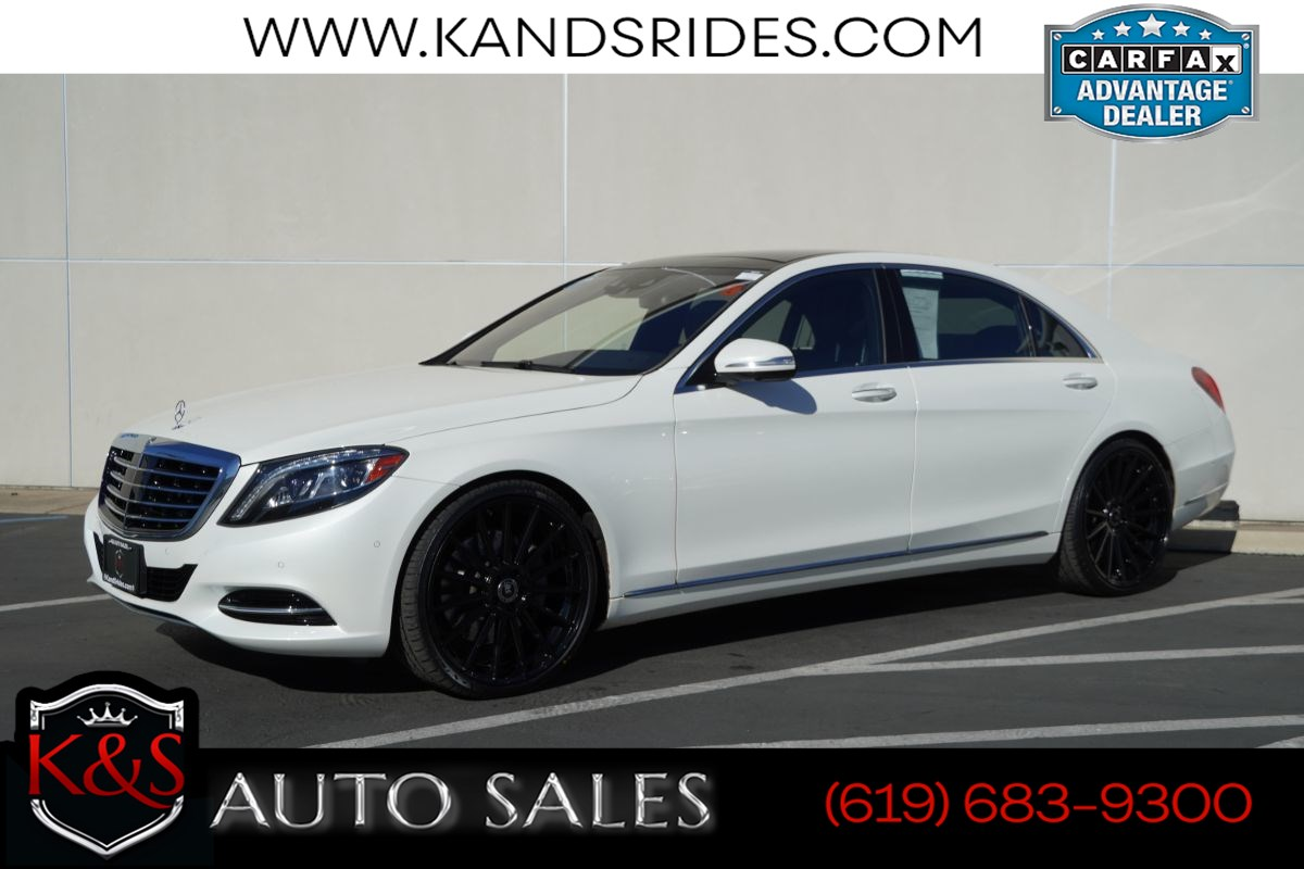 2017 Mercedes-Benz S 550 | *One Owner*, Pano Roof, Heated/Ventilated Seats, Adaptive Cruise Ctrl, Blind-spot Monitor