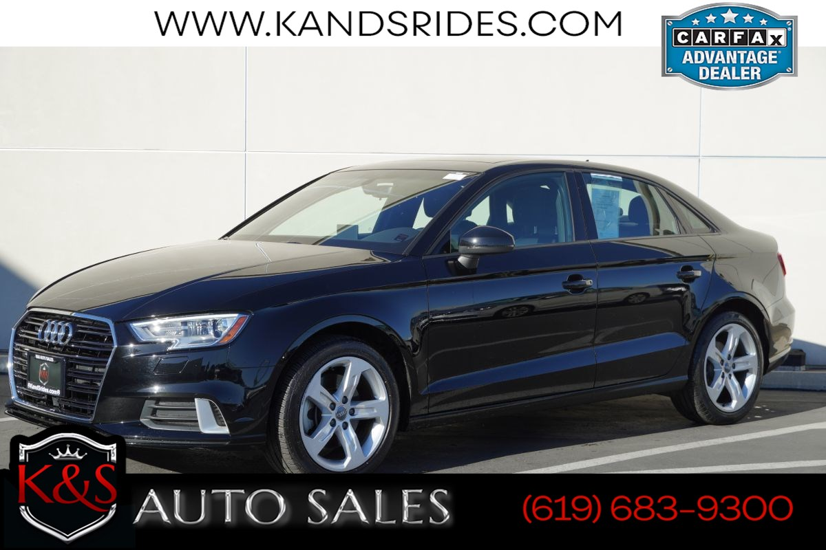 2018 Audi A3 2.0T Premium | *One Owner*, Pano Roof, Heated Seats, Bluetooth, Back-up Cam, Keyless Ignition