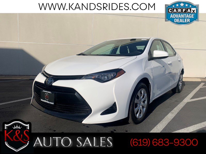 2018 Toyota Corolla LE Cloth Seats Backup Cam Bluetooth Climat Control CVT Entune Audio Auxiliary Input