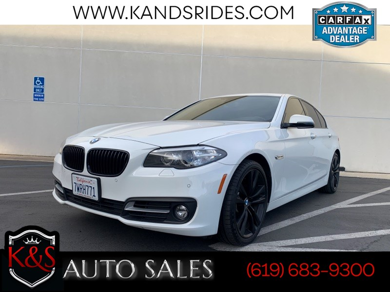 2016 BMW 528i | Sunroof, Heated Seats, Bluetooth, Back-up Cam, Keyless Ignition, Navigation, Tinted Windows