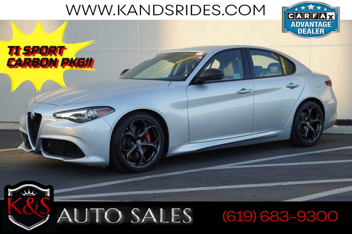2019 Alfa Romeo Giulia Ti Sport Carbon | Heated Sts, MSRP $49980, Back-up Cam, Android Auto, Apple CarPlay