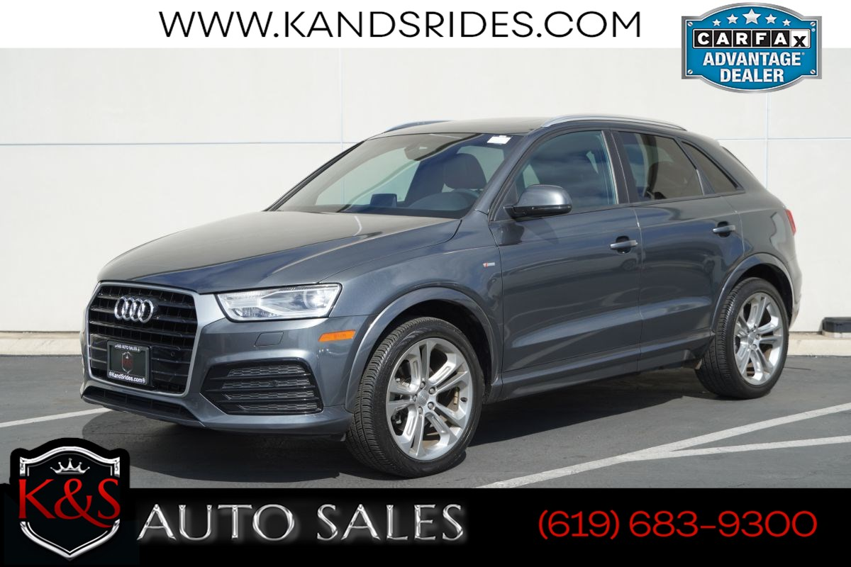 2018 Audi Q3 2.0T Premium | *One Owner*, Sport Pkg, Pano Roof, Heated Seats, Bluetooth, Back-up Cam
