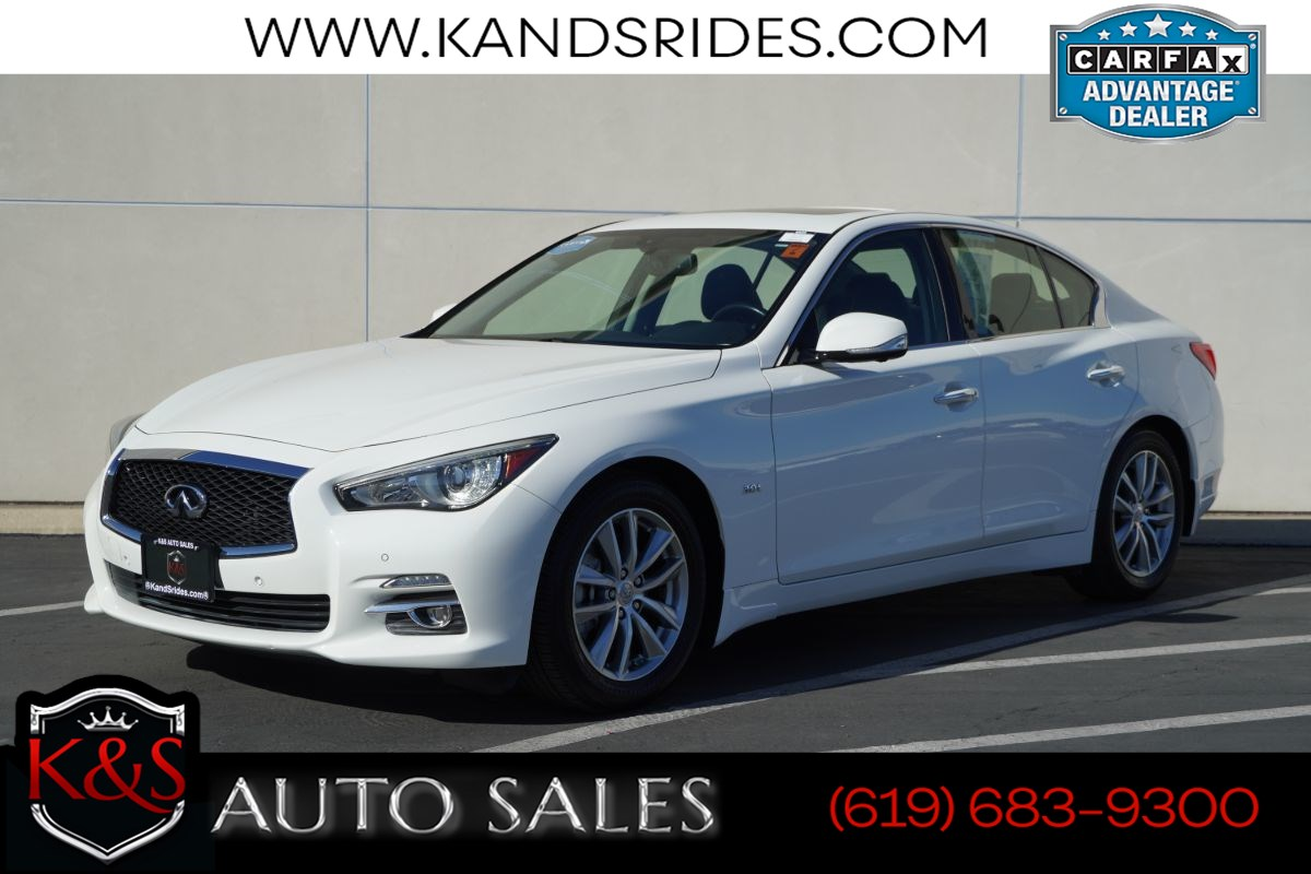 2017 INFINITI Q50 3.0t Premium Plus | *One Owner*, Sunroof, Heated Seats, Blind-spot Monitoring, Back-up Cam
