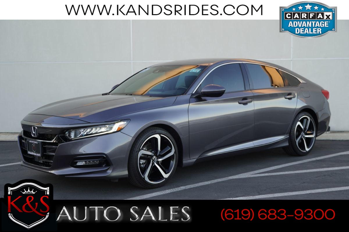 2019 Honda Accord Sport 1.5T | *One Owner*, Adaptive Cruise Ctrl, Lane-keeping Assist, Bluetooth, Back-up Cam