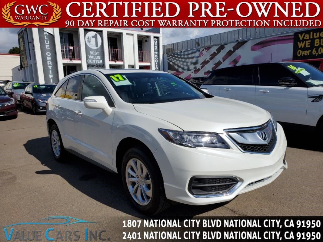 Sold 2017 Acura Rdx Sport Utility 4d In National City