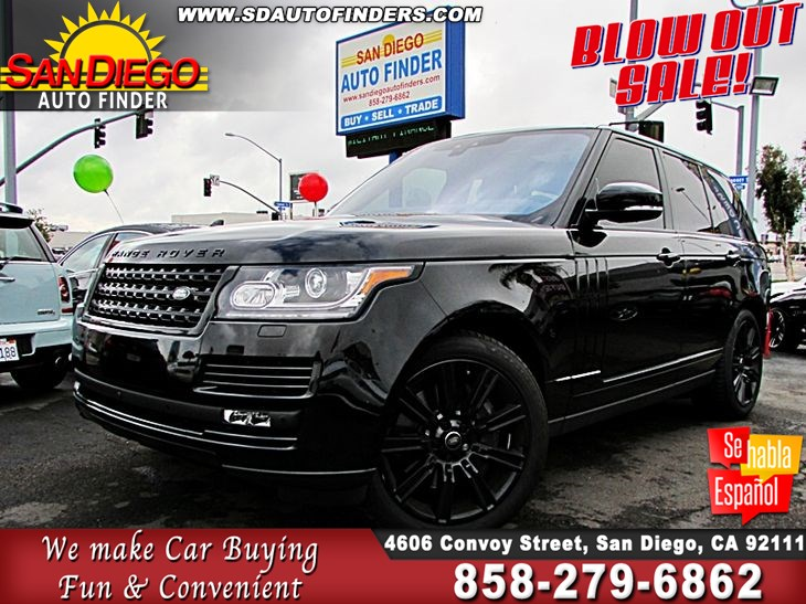 "2017 Land Rover Range Rover Supercharged V8 in Farallon Black 4WD Fullyloaded Triple Black on Black 21"" Alloy's"